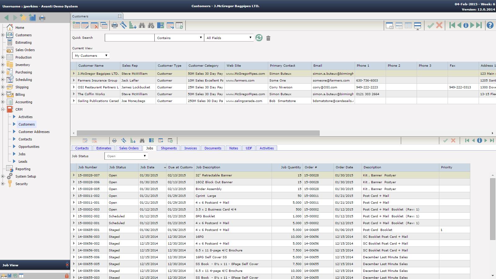CRM Customers - Print MIS Software