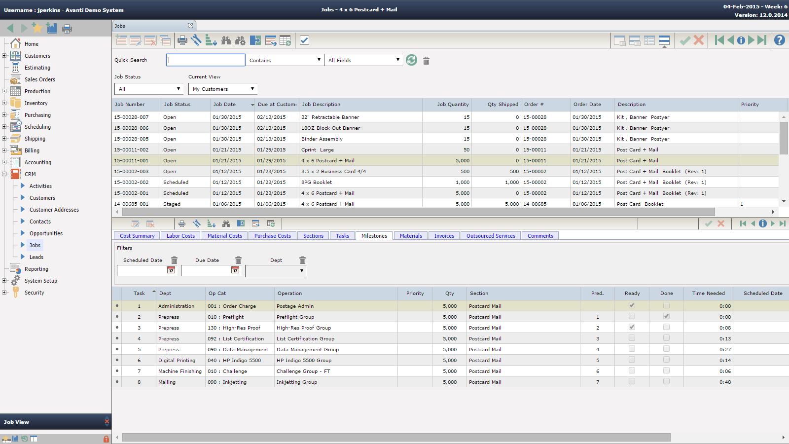 CRM Jobs - Print MIS Software