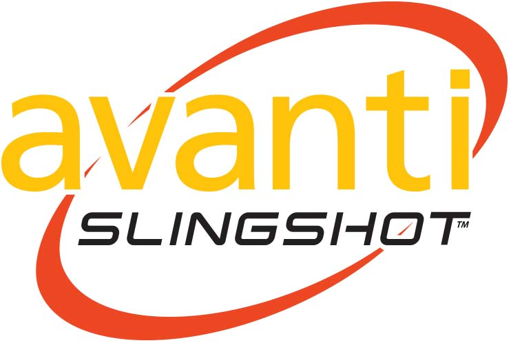 Avanti Slingshot Logo - Red with Black Slingshot