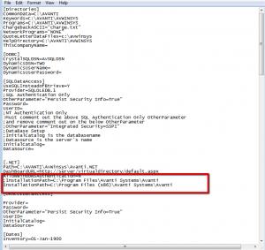 Screenshot INI file