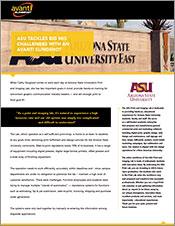 ASU Tackles Big MIS Challenges with an Avanti Slingshot